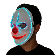 Halloween Red Nose Clown Glowing Mask Cold Light Party Decorations Light... - £17.66 GBP