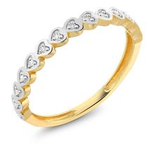 Diamond-Jewelry 18K Yellow Gold Ring Natural White Diamond Heart Shape L... - $172.79