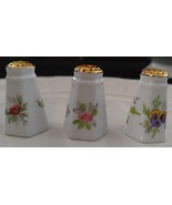 Vintage Bavaria Hand Painted Floral, Miniature Salt Shakers - Porcelain - $24.95