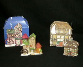 Dept 56 Charles Dickens Ornament Lot Sir John Falstaff Inn Village Mill ... - $14.84
