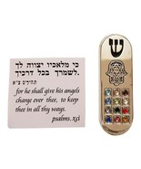 Good Luck Hamsa Hand Car Mezuzah Case with Traveler's Prayer Scroll Isra... - $15.80