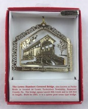 Nations Treasures Pennsylvania Covered Bridge Brass Metal Ornament Souvenir - $15.00