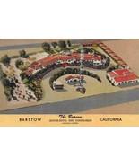 The Beacon Motel Coffee Shop US Route 66 Barstow California linen postcard - $6.88