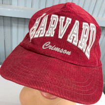 VTG Harvard University Corduroy Crimson Snapback Baseball Cap Hat Made I... - $39.51
