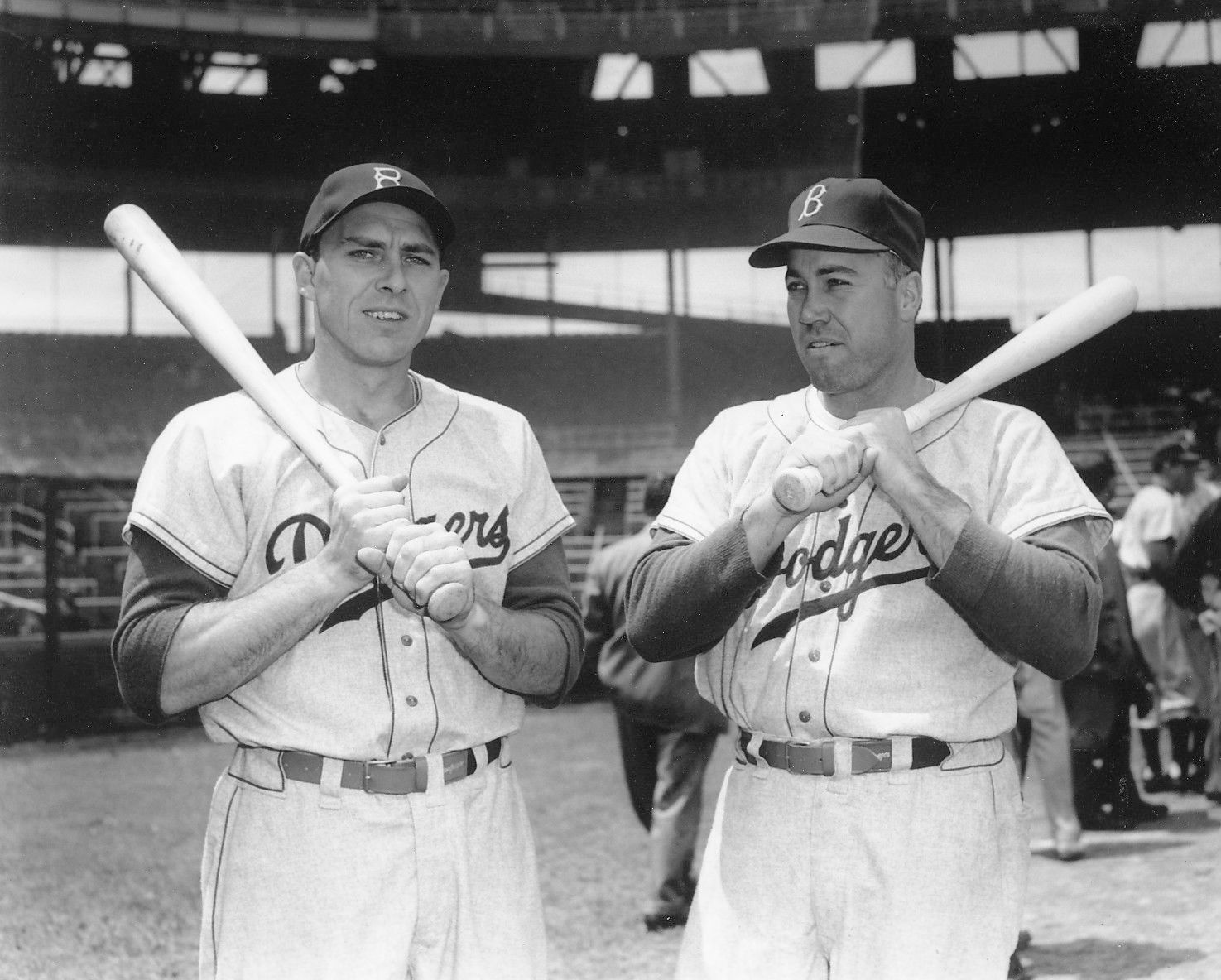 DUKE SNIDER & GIL HODGES 8X10 PHOTO BROOKLYN DODGERS MLB BASEBALL PICTURE