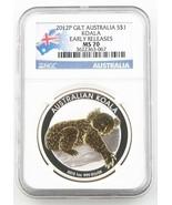 2012-P Australia Dollaro 1oz Dorato Argento Koala NGC MS-70 (Cinque) Cla... - $200.16