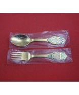 Christmas by A. Michelsen Sterling Silver Fork and Spoon Set 2pc 1982 Ve... - $256.41