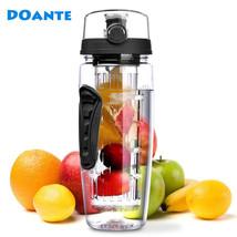Water Bottle Fruit Infuser 32 oz 900ml BPA Free Juice Shaker Travel Spor... - $402,98 MXN