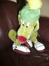 NWT VINTAGE 1997 LOONEY TUNES ACE GREEN ALIEN SPACE DOG CUTE W HAT - $22.76