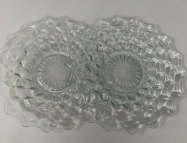 "Fostoria Clear Cubist 7"" Salad Desert Bread Plates Lot of 2 American (FO... - $14.43"