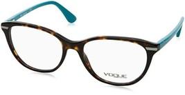 Authentic Vogue Eyeglasses VO2937F 2393 Havana Blue Frames 53MM Rx-ABLE - $49.89