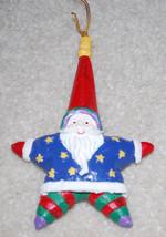 "Santa Claus Star Shape Vintage Christmas Ornament Holiday Decoration 5.5"" - $8.86"