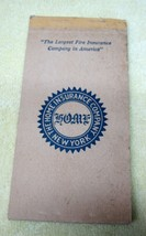 1917 The Home Insurance Company New York Fire Notepad Booklet Great LOGO... - $9.89