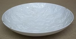 Generic Fruit Bowl White 15in with Grape Leaf Pattern  * Ceramic - $19.96