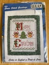 "Vtg Design Works ""Merry Christmas Card"" 5854 Cross Stich Greetings - $4.00"