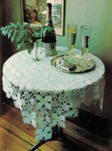 4X Wagon Wheel Lace Rosettes Leaf Flower Tablecloth Crochet Pattern image 5