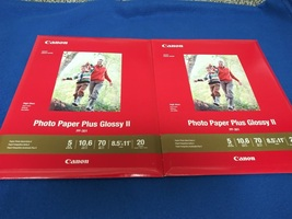 "Canon PP-301 Photo Paper Plus Glossy II (8.5 x 11"", 20 Sheets) x 2 Packs - $17.95"