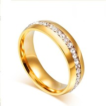 LUXUKISSKIDS Gold-color Wedding Brands Couple Ring for Women Men Jewelry... - $16.36