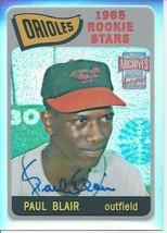 2001 Topps Archives Reserve Rookie Reprint Autographs Paul Blair 34 Orioles - $6.00
