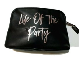 Victoria's Secret Life of the Party Black Beauty Bag Sequined Silver Gold Stars - $17.88