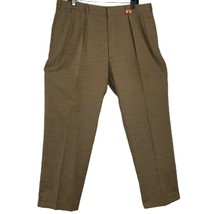 Polo Ralph Lauren Mens Dress Pants Brown Glen Check Plaid Cuffed Pleated... - $23.36