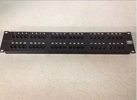 Hubbell CAT5e MCC5806110A19 48-Port Patch Panel - $25.00