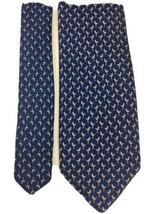 Jos A Bank Seagull Tie 100% Silk Navy Blue Necktie Novelty Print Seashor... - $14.85