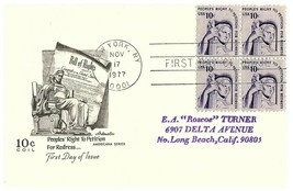 People's Right to Petition for Redress First Day of Issue Postcard Stamp... - $14.80