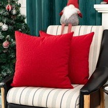 Kevin Textile Red Pillow Slipcovers, Set of 2