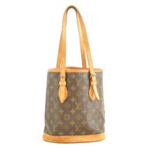 LOUIS VUITTON Monogram Bucket PM Shoulder Bag M42238 Auth mt083 **No Sticky - $240.00
