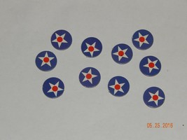 Axis & Allies #4423 Game 1984-87 Milton Bradley USA 10 Pieces Markers - $6.40