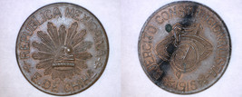 1915 Revolutionary Mexico Chihuahua 5 Centavo World Coin - $24.99