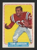 1964 Topps Football #1 - TOM ADDISON - BOSTON PATRIOTS, SHORT PRINT - $34.64