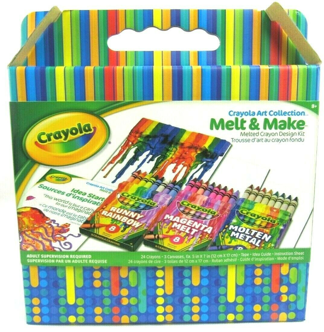Primary image for Crayola Art Collection Melt & Make Melted Crayon Design Kit(24 Crayons 3 Canvas)