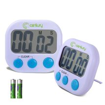 Century Digital Kitchen Timer, Magnetic,Cooking LCD Count Down Clear Ala... - $16.00