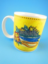 "Beautiful Yellow Mug ""Island Heritage"" Hilo Hattie Hawaii 2002 - $9.89"