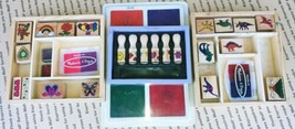LOT OF 3 Melissa & Doug Wooden Stamp sets and Ink pads good pre-owned condition - $15.99