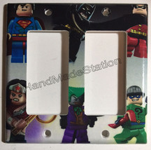 Lego Superhero Characters Light Switch Power Outlet Wall Cover Plate Home Decor image 4