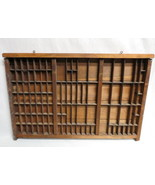Antique Typeset Cabinet Tray Drawer Wall Shadow Box Frame 26X17 Display ... - $49.45