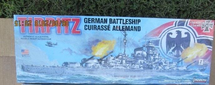 Lindberg Tirpitz German Battleship 1/350 Scale