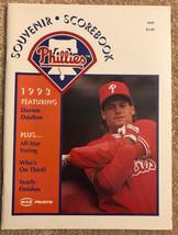 1993 Philadelphia Phillies Souvenir Scorebook Scorecard Darren Daulton C... - $7.75