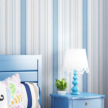 jiadou Modern Pink Blue White Vertical Striped Wallpaper For Kids Room Living Ro - $40.95