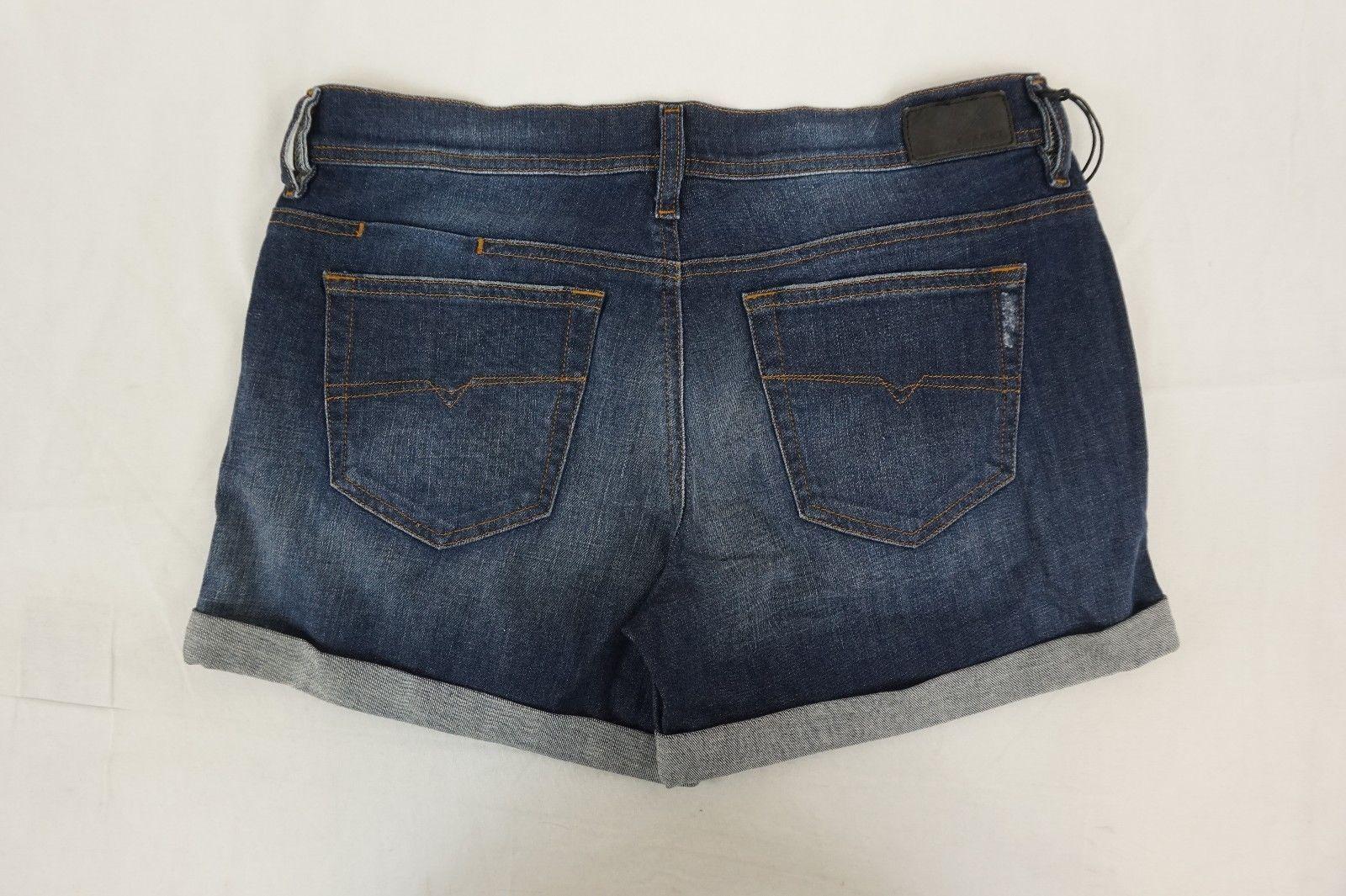 2bf1583c NWT DIESEL Women's Med. Wash R120B Alaisi Distressed Cuffed Denim Shorts 29 x  4