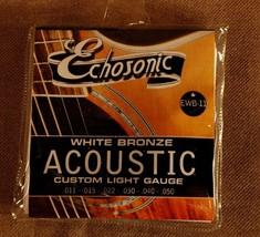 Echosonic EWB-11 White Bronze Acoustic Guitar Strings - $3.28