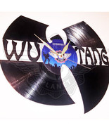 VINYL PLANET Wall Clock WU TANG Home Record Unique Decor upcycled 12'' - $24.26