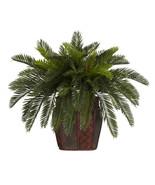 Double Cycas w/Vase Silk Plant - $78.64