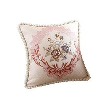 PANDA SUPERSTORE Elegant and Romantic Throw Pillow Cover Decorative Cushion Cove
