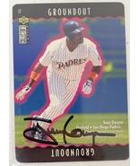 Tony Gwynn Signed Autographed 1995 UD CC Baseball Card - San Diego Padres - $49.99