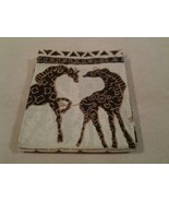 "Creative Bath ""GIRAFFES & AFRICAN CATS"" fabric shower curtain 70"" x 70"" ... - $21.77"
