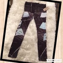 HOLLYWOOD FAME WALK SIGNATURES LEGGINGS Pants Athletic Fashion  - $39.59